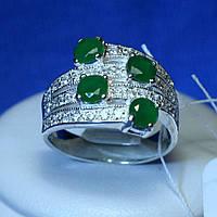 Серебряное кольцо с зеленым фианитом кс 840из, фото 1