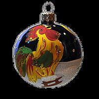 "Новогодняя игрушка шар 60 мм ""Петушок Синий"""