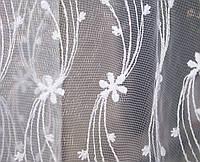 Тюль микросетка вышивка