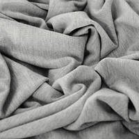 Ткань трикотаж вискоза плотная светло серая (метр )