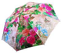 Женский зонт Zest  Картина с цветами САТИН (автомат) арт.53624-23