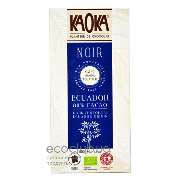 Шоколад черный 80% KAOKA 100г