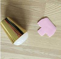 Штамп желе с большой силиконовой подушкой 4 см для стемпинга, оченьмягкая желе, цвет - золотой, фото 1