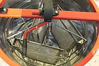 Медогонка 3-х рамочная поворотная, бак и кассеты - нержавейка, редуктор