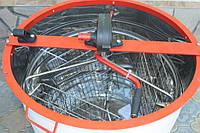 Медогонка 3-х рамочная поворотная, нержавейка, кассета сварная нержавеющая редуктор