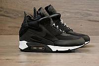 "Зимние кроссовки в стиле NIKE Air Max 90 Sneakerboot Winter ""Black/White"""