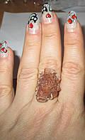 """Серебряное кольцо с арагонитом   """"Рассвет"""" , Размер 18,4 от студии LadyStyle.Biz"""