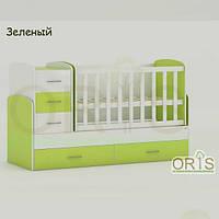 Кровать - трансформер для детей Oris Maya Зеленый