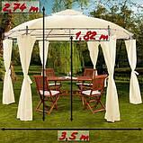 Круглый садовый павильон  3,5 м Бежевый, фото 2