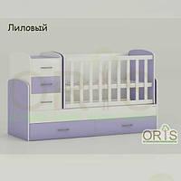 Кровать - трансформер для детей Oris Maya Лиловый