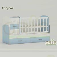 Кровать - трансформер для детей Oris Maya Голубой