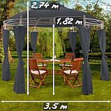 Круглый садовый павильон 3,5 м, фото 2