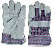 Перчатки спилковые комбинированые