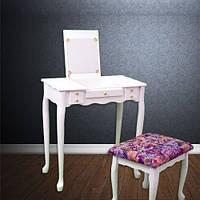 Туалетный стол с зеркалом и стулом ART-393