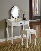 Туалетный столик Princess c наклонным зеркалом и табуретом