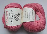 Пряжа Беби вул Baby Wool Gazzal, 828, розовый