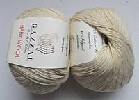 Пряжа Беби вул Baby Wool Gazzal, 829, беж