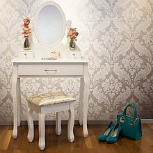 Туалетный столик с Helena 75 см с табуретом и наклонным зеркалом
