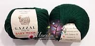 Пряжа Бэби вул Baby Wool Gazzal, 814, т. зеленый
