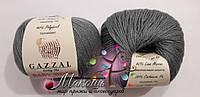 Пряжа Бэби вул Baby Wool Gazzal, 818, т. серый