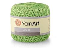 Пряжа Виолет Violet Ярнарт, 5352, салат