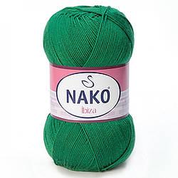 Пряжа Ибица Ibiza Nako, 10026, зеленый