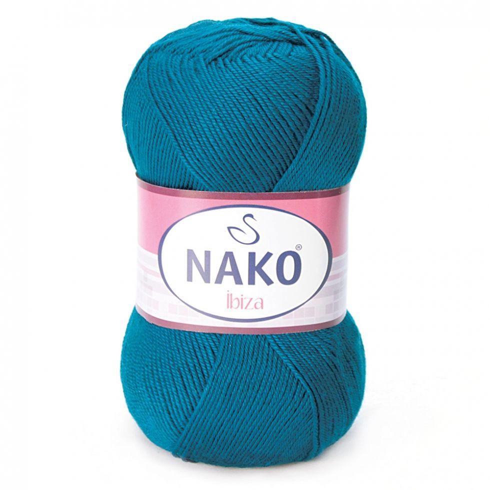 Пряжа Ибица Ibiza Nako, 10328, т. бирюза