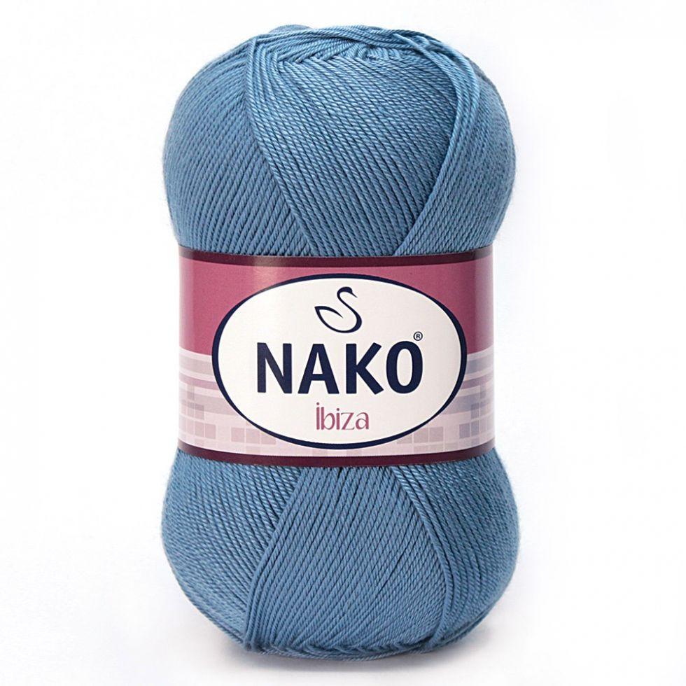 Пряжа Ибица Ibiza Nako, 4378, т. голубой