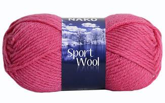 Пряжа Спорт вул Sport Wool Nako, 1174, малиновый