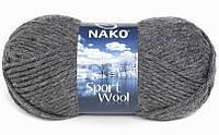 Пряжа Nako Sport Wool Спорт вул, №193, т.серый