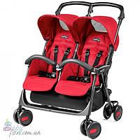 Прогулочная коляска для двойни Peg-Perego Aria Shopper Twin Mod Red