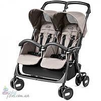 Прогулочная коляска для двойни Peg-Perego Aria Shopper Twin Mod Beige