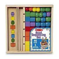 Развивающий набор деревянных бусин Последовательность и соответствие Melissa&Doug Bead Sequenc, фото 1
