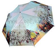 Женский зонт Zest Осень в Париже ЛЁГКИЙ ( полный автомат, 4 сложения ) арт.24755-1