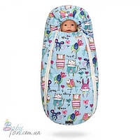 Конверт для новорожденных Baby XS на овчине Cocon Blue