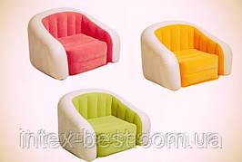 Надувное кресло Intex 68597 Cafe Club Chair Зелёный (69х56х48 см.)