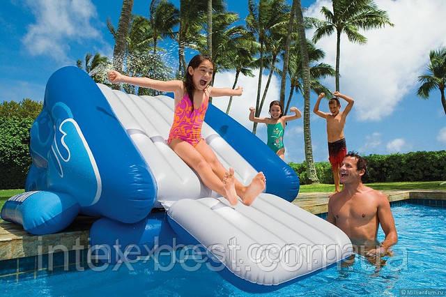 Игровой центр-бассейн Intex 58851 Горка 343х206х127см для детей от 6 лет