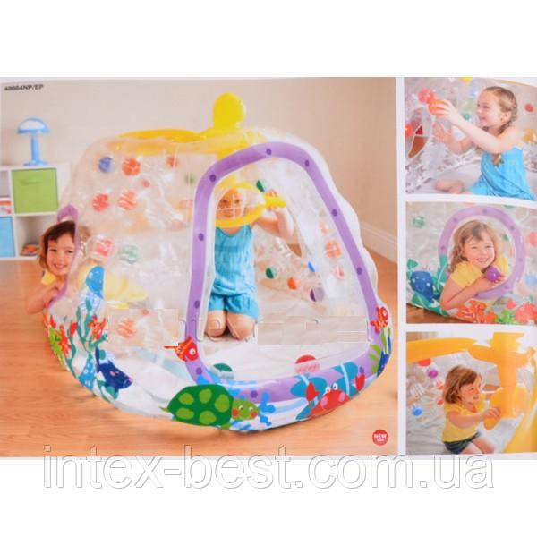 Надувной игровой центр Подводная лодка Intex 48664 Ball Toyz See-Thru Submarine Playhouse (от 3 до 6 лет)