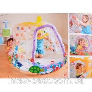 Надувной игровой центр Подводная лодка Intex 48664 Ball Toyz See-Thru Submarine Playhouse (от 3 до 6 лет) , фото 2
