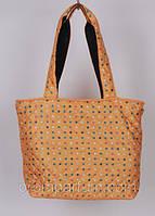 "Стеганая дутая сумка ""Аркадия"" в горошек цвет оранжевый 13х29х29х25 SOR /37-4"