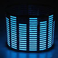 Неоновый эквалайзер на авто 70 х 16см цвет синий.