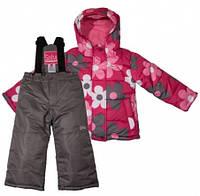 Комплект зимний, куртка и комбинезон Gusti 4817 SWG цвет коричневый/малиновый