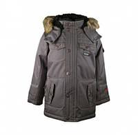 Куртка зимняя для мальчика Gusti 6465 GWB, цвет светло-серый размер 142см