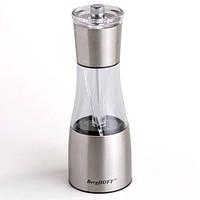 Мельница для соли и перца BergHOFF Duo  19 × 6,5 см нерж сталь прозрачный корпус