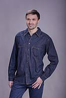 Джинсовая рубашка Montana 12190 SW  средне-синяя