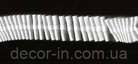 Тесьма  для штор, 2.5 см белая хлопковая, 100 м. рулон