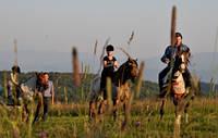Катание на конях в Карпатах