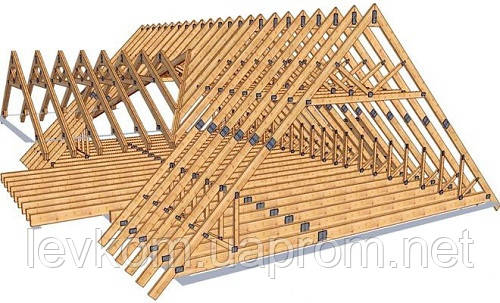 Стропильная система крыши из дерева