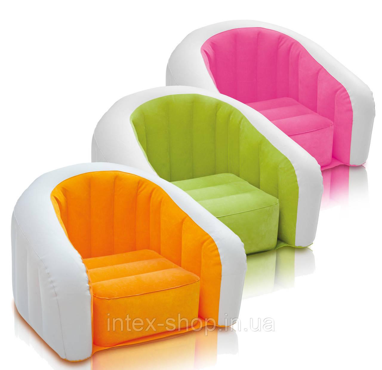 Детское надувное кресло intex 68597 (Зеленый)