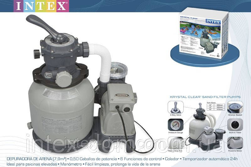 Песочный фильтрующий насос 6 м3/ч Intex 28646 (56674)